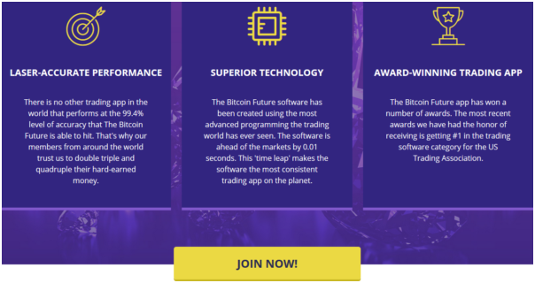 How does the Bitcoin Future App work?